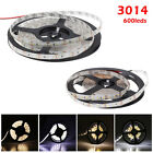 Super Bright 5M 3014 SMD 120leds/M Warm/Cool White 8mm LED Strip Light DC12V