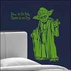 Large Starwars Bedroom Yoda Do  Not No Try Wall Sticker Trasfer Cut Vinyl Decal