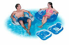 Bestway Splash And Play Flip Pillow Pool Chair Lounger Lilo Blue White New Boxed