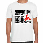 grabmybits - Education is Important, Racing is Importanter T Shirt, Moto Bike