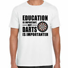 grabmybits - Education is Important, Darts is Importanter T Shirt, Sport Funny