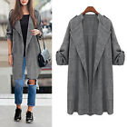36-54 Damen Trench Coat Cape Ponchos Jacke Outwear Cardigan Mäntel Top Plus Size