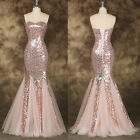 Mermaid Prom Dress Evening Long Ball Gown Bridesmaid Formal Party Bridal Wedding