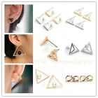 Womens Alloy Fashion Triangle Square Infinity Stud Earrings Geometric Jewellery