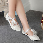 Lace Romantic Women Shoes Dancing Floral Flats Wedding Party Bridal New Pumps