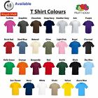 5 Pack Fruit of the Loom Tshirt 100% Cotton Plain Blank Mens