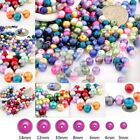 4/6/8/10mm Round Czech Glass Pearl DIY Jewellery Craft Beads Loose Fit Bracelet