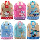 SANRIO HELLO KITTY MY MELODY CINNAMOROLL RB CANVAS KID'S BACKPACK
