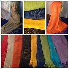 Bright Colors Oblong Scarf Shawl Hijab with gold accents free ship 2 US in US