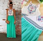 Women's Ladies Summer Chiffon BOHO Long Maxi Evening Party Dress Beach Sundress