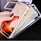 Luxury Ultra-thin Soft Silicone TPU Mirror Case Cover For Apple iPhone 5 6S Plus
