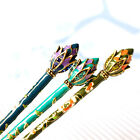Chinese Traditional Style Women Girls Hair Stick Hairpin Hair Making with Lotus