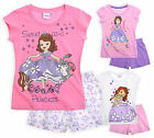 Girls Disney Princess Sofia Short Sleeved Pyjamas New Kids PJ Set Ages 2-8 Years