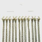 Antique Bronze Plain Necklace Lobster Clasp Chains Multi Length Bulk Quantity UK