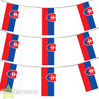 SLOVAKIA EURO FOOTBALL 2016 COUNTRY BUNTING 33FT LARGE FLAG DECORATION 20 FLAGS