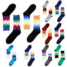 Men Socks Long Socks Stockings Casual Men's Plaid Gradient Color  HOT