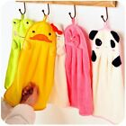 Facial Hand Drying Towel Soft Plush Cartoon Animal Hanging Wipe Bathing Towel