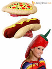 Novelty Chilli Hotdog Pizza Hat Adults Food Fancy Dress Accessory Stag Hen Party