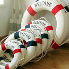 Welcome Aboard Nautical Life Lifebuoy Ring Boat Wall Hanging Home Decoration EW