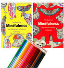Adult Anti Stress Therapy Colouring Book + 12 Fineliners + 24 FELT TIP PENS