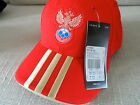 OFFICIAL ADIDAS RUSSIA 3 STRIPES Football Cap soccer calcio NEW TAGS Red