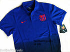 M or XL NIKE BARCELONA ROYAL POLO SHIRT football soccer calcio jersey COTTON