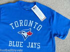 S M XL BLUE JAYS OFFICIAL MLB Baseball T Shirt NEW Cotton Toronto Canada