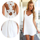 Sexy Women Floral Straps Cross Backless Dress Party Cocktail Club V-neck Dresses