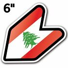 Lebanon - JDM Wakaba Leaf Flag Decal Sticker Car Macbook Shoshinsha Truck Bumper