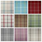 LEWIS WOOL TOUCH HEATHER TARTAN CHECK INTERIORS FABRIC curtain upholstery skye