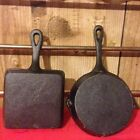 "Cast Iron Skillets Unmarked 6"" Round"