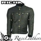 RICHA SCRAMBLER BLACK WAX COTTON SHORT CLASSIC STYLE MOTORCYCLE MOTORBIKE JACKET