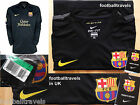 RARE! M L XL NIKE BARCELONA LONG SLEEVE AWAY SHIRT JERSEY football soccer DRIFIT