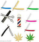 Barber Stylist Razor Shear Comb Barber Pole MJ Fashion Jewelry Lapel Pins