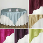 "6 x SATIN SQUARE 90x90"" Table OVERLAYS Wedding Party Toppers Decorations SALE"