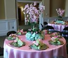 """15 x SATIN SQUARE 90x90"""" TABLE OVERLAYS Wedding Party Prom Catering Decorations"""