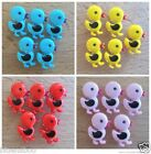 5 x painted chick buttons, 18 x 13mm, 4 colours shank on back ideal for sewing