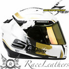 SCORPION EXO 710 CERBERUS WHITE GOLD FULL FACE MOTORCYCLE MOTORBIKE BIKE HELMET