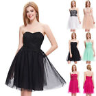 NEW Homecoming Short Lace Strapless Cocktail Evening Prom Party Masuqerade Dress