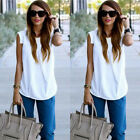 Women's Casual Sleeveless Chiffon Tee Vest T Shirt Sexy Summer Blouse Loose Tops