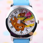 BRAND NEW JAPAN RILAKKUMA & CAKE LEATHER STRIPE WATCH K1024 BLUE GIFT BOX