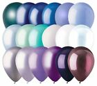 """48 - 12"""" Solid Latex Balloons Winter Inspired Color Palette Ice Skate Party Snow"""