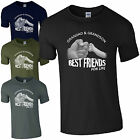 Grandad & Grandson Best Friends For Life T-Shirt Fist Punch Fathers Day Mens Top