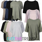 Womens Oversized Distressed Top Ladies Loose Baggy Destroyed Tee Shirt Top