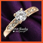 18K GOLD GF 1CT SOLITAIRE CZ CHANNEL SET ENGAGEMENT WEDDING WOMENS RING JEWELRY