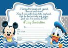 10 x Children Birthday Invitations/ Thank you Cards BABY MINNIE MICKEY MOUSE