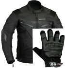 Spine Pad Motorbike Jacket with Free Motorcycle Gloves