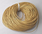 2yards golden Genuine round Leather cord Cowhide 1MM 1.5MM 2MM 3MM diy findings