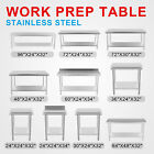 Vevor New Commercial Kitchen Stainless Steel Food Work Prep Table All Sizes
