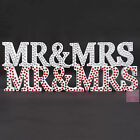 MR and MRS LETTERS   DIAMANTE Wedding White Mr & MRS Letters Sign Diamonte
